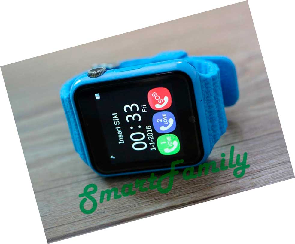 часы v7k голубые