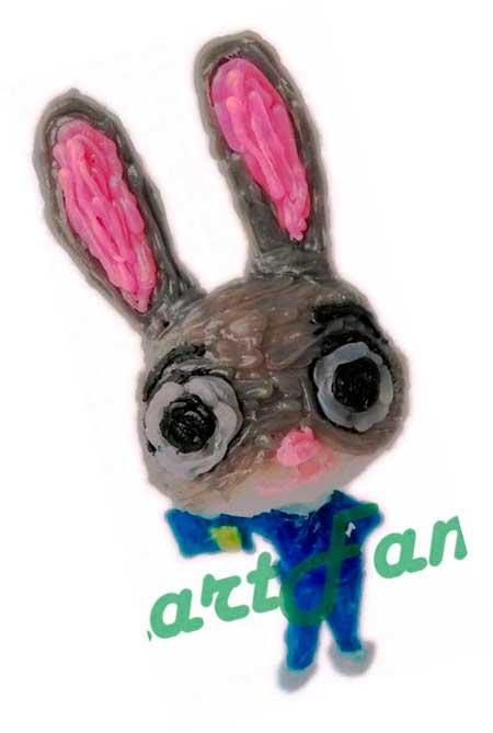 Рисунок 3d ручкой Заяц