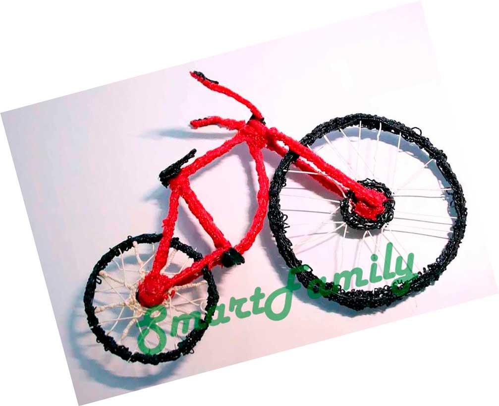 рисунки 3д ручкой велосипед