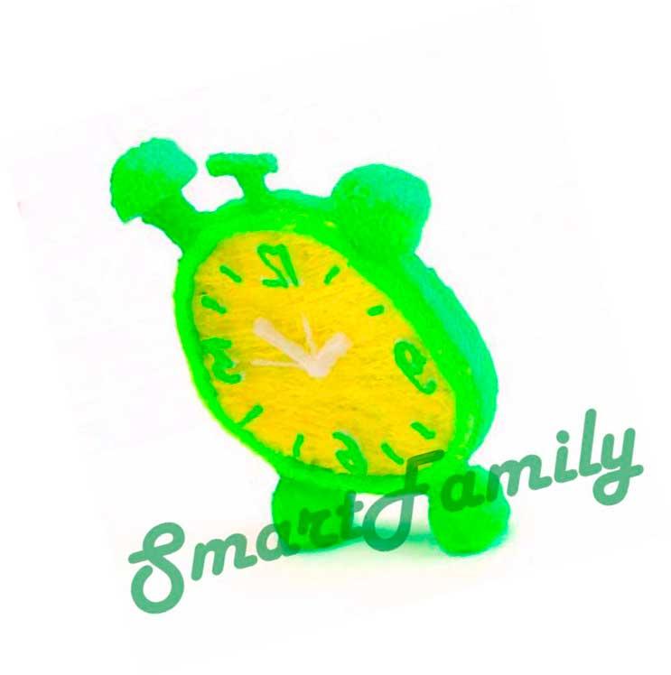 Рисунок 3d ручкой Лимонные часы