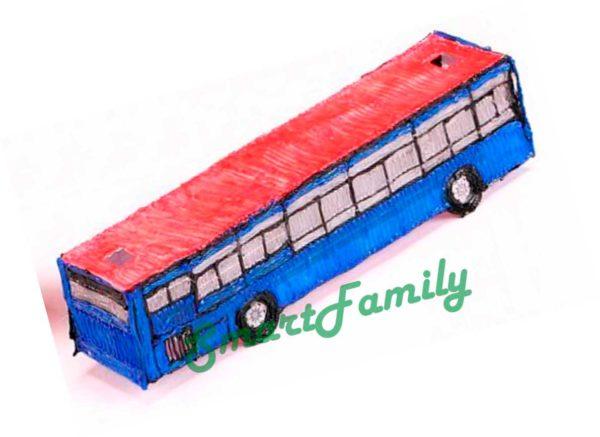 Рисунок 3d ручкой Автобус