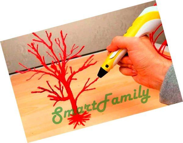 рисовать дерево 3д ручкой