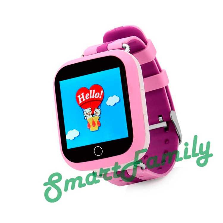 q100 детские часы сиреневые