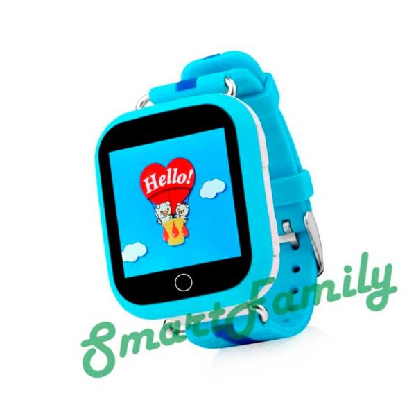 q100 детские часы голубые