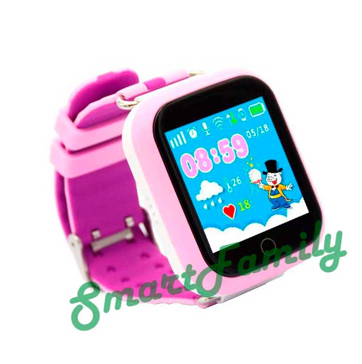 Smart baby watch Q100 розовые