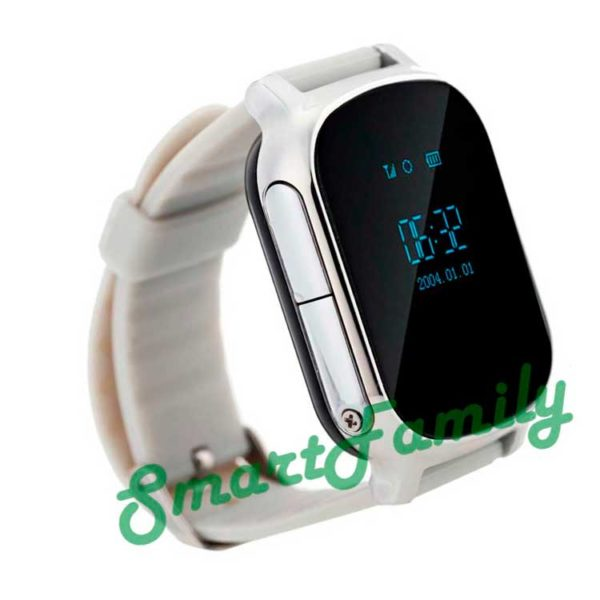 smart gps watch t58 серебряные