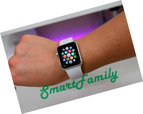 умные часы IWO 2 белые на руке