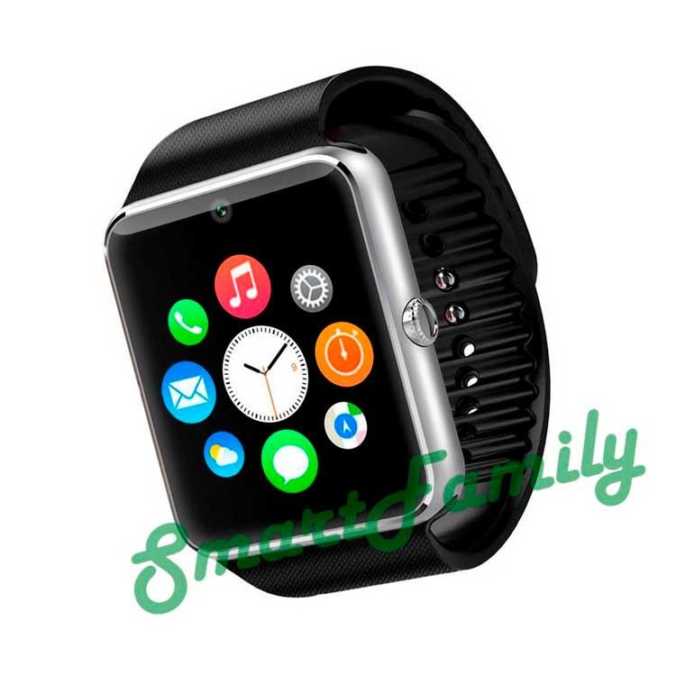 smart часы gt08 серебряные