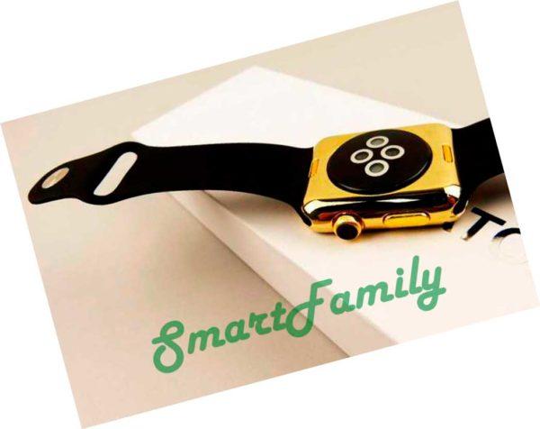 умные часы IWO 2 золотые
