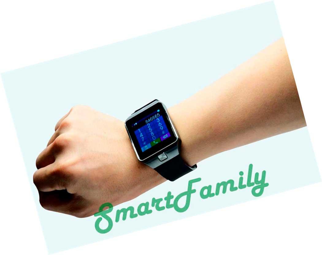смарт часы DZ09 с калькулятором на руке