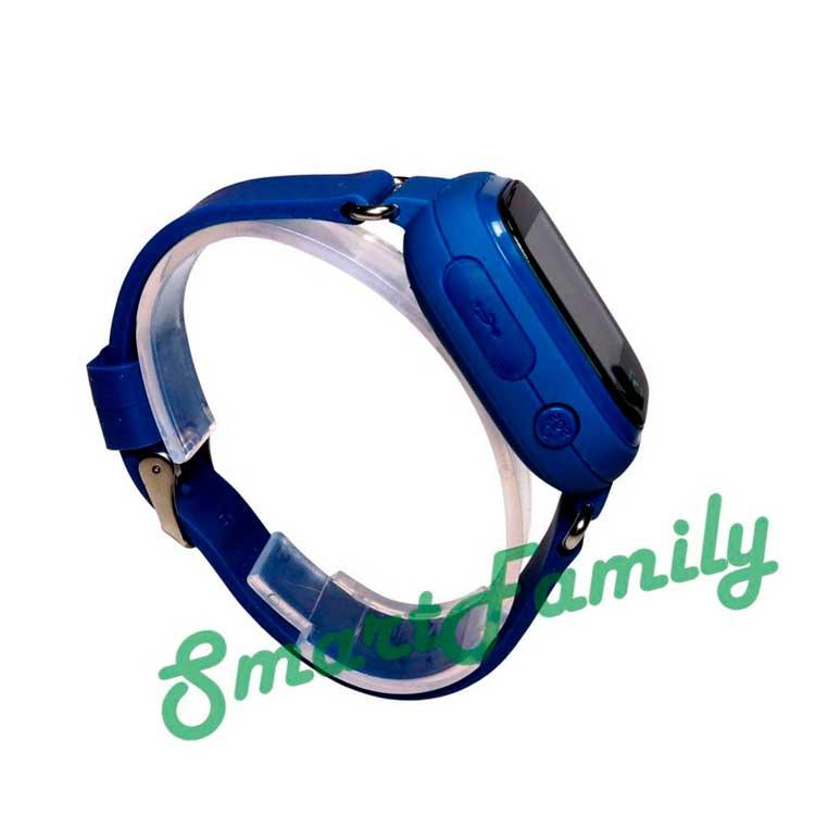 q90 детские часы синие