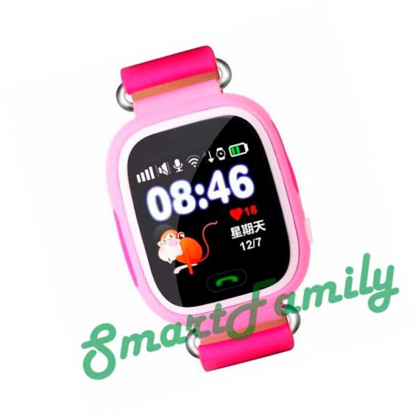 часы baby watch q90 розовые