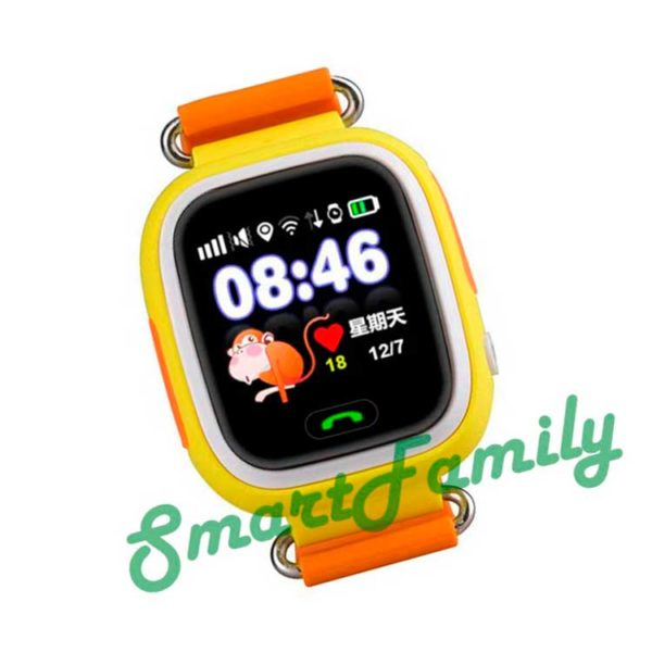 смарт часы q90 желтые