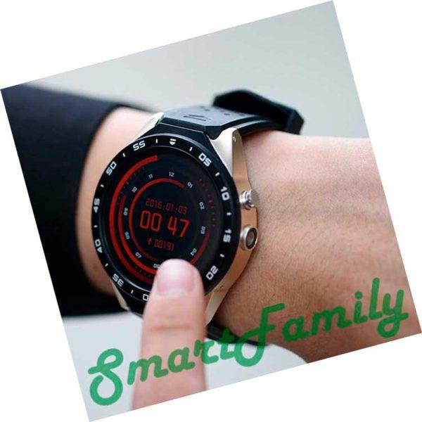 часы смарт вотч KW88 на руке