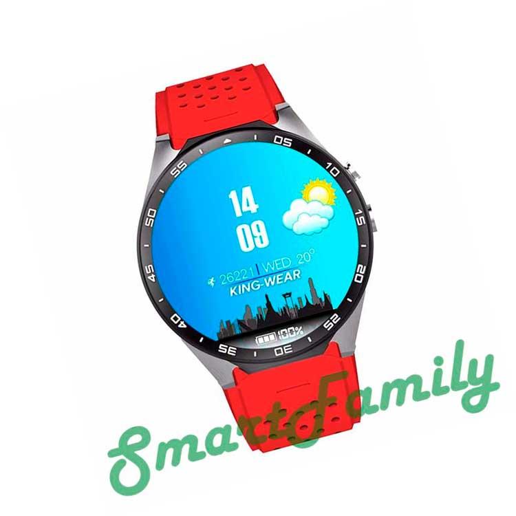 часы Kingwear KW88 красные