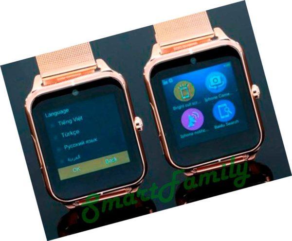обзор меню Smart watch Z50