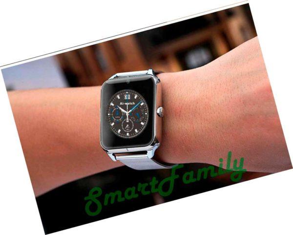 серебряные Smart watch Z50 на руке