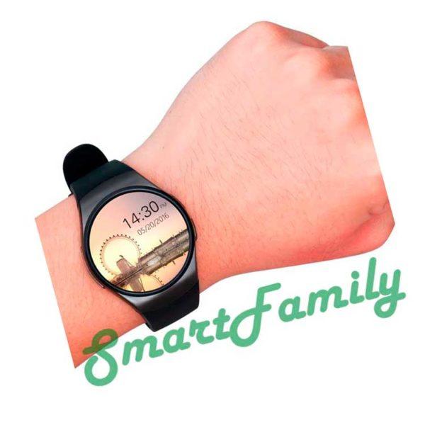 черные smartwatch kw18 на руке