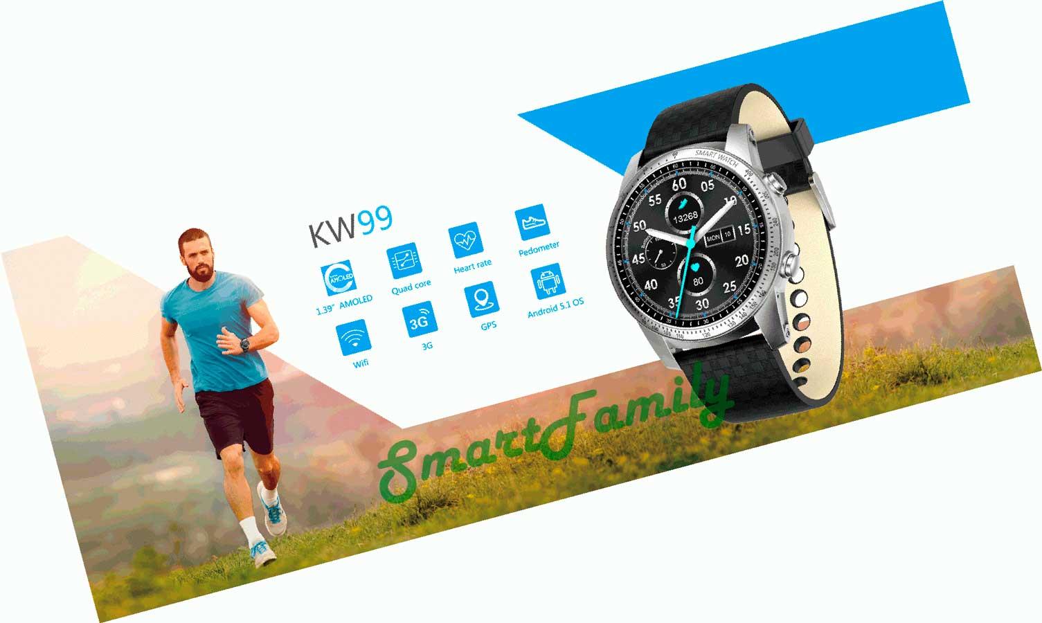 часы KW99 функции