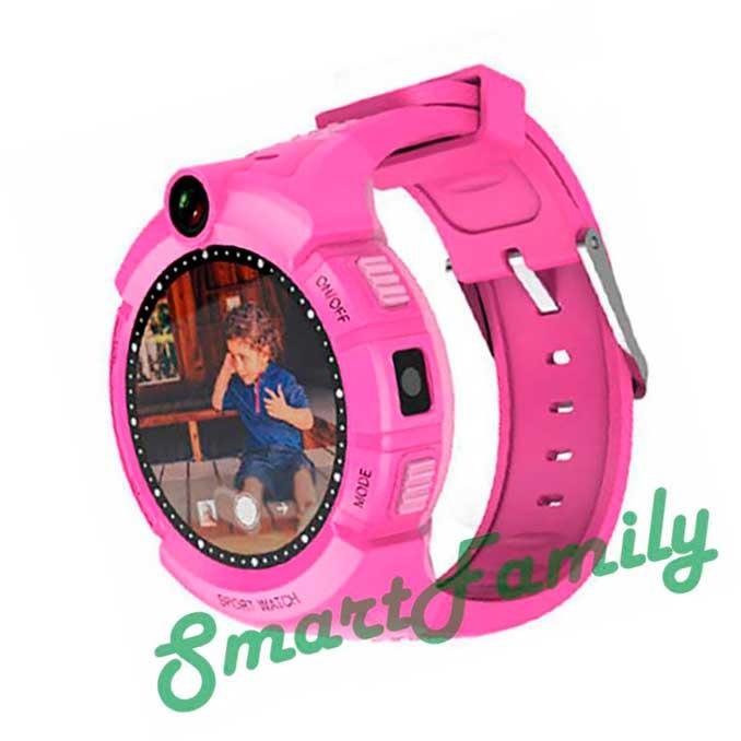 Детские часы с gps трекером Q360 розовые