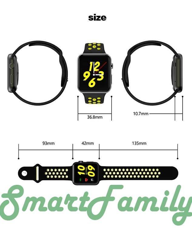 часы IWO 4 размеры