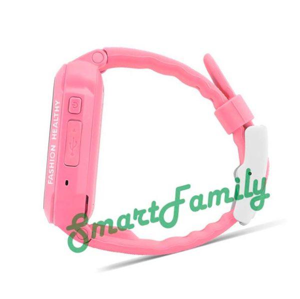 часы с GPS трекером розовые