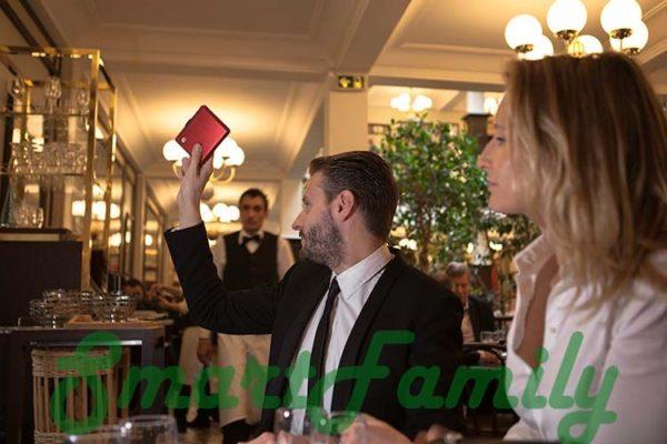 rfid кошелек OGON в ресторане