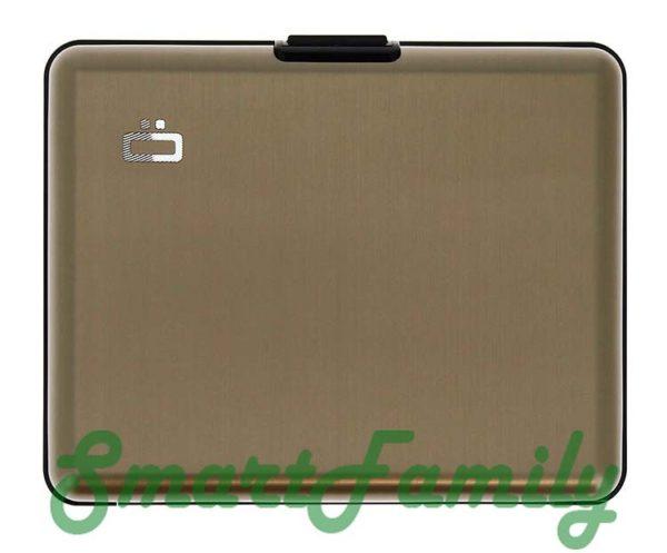 rfid кошелек коричневый