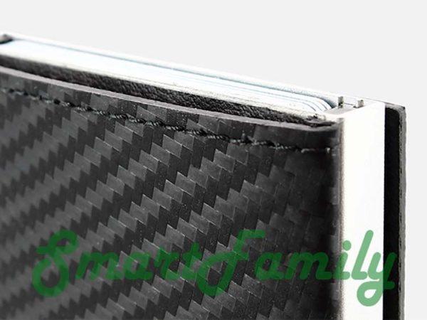 каскадный кошелек с rdid защитой карбон