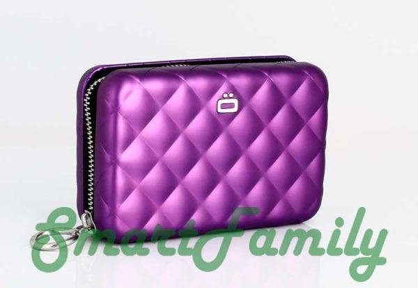 кошелек для карт на молнии OGON пурпур
