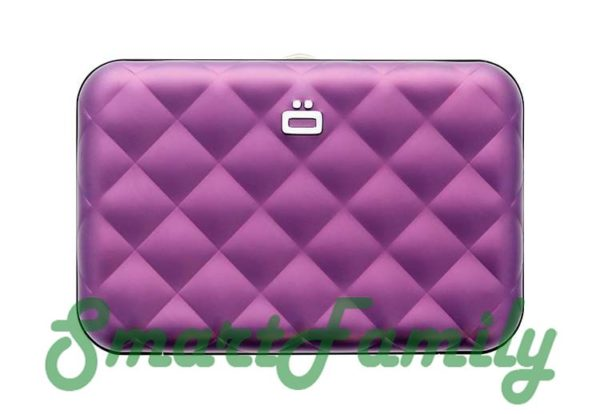 кошелек для кредиток с кнопкой OGON пурпурный