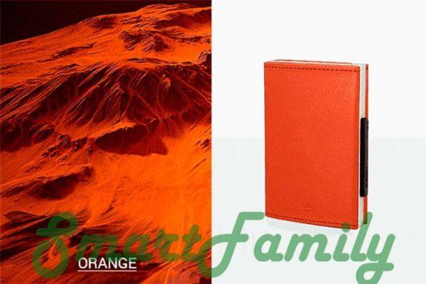 кошелек каскадный rfid оранж
