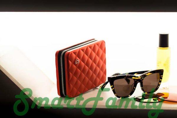 стеганный кошелек OGON для карт и паспорта 1