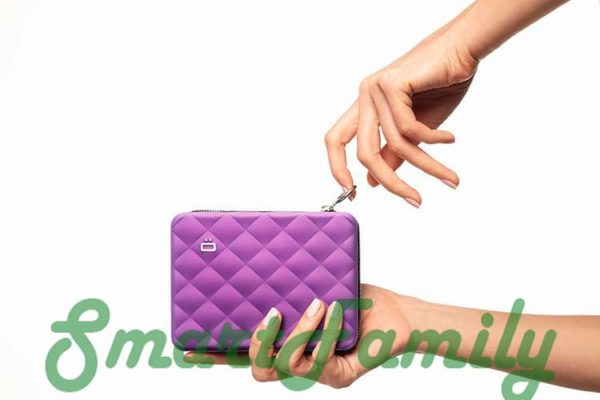 стеганный кошелек OGON для карт и паспорта 6
