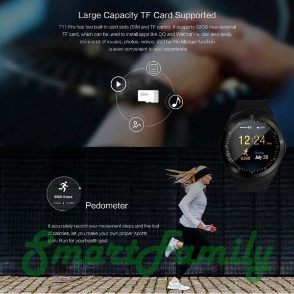 smart watch Y1 с картой памяти