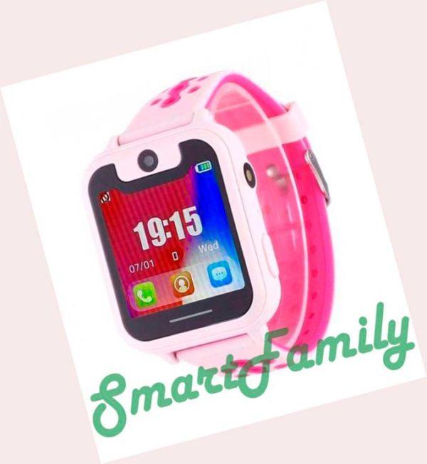 детские часы s6 розовые