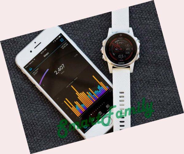 Fenix 5s Saphire белый смартфоном