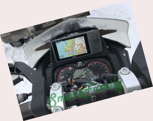 навигатор GPSMAP 276CX на снегоходе