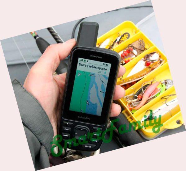 навигатор GPSMAP 66ST для рыбалки