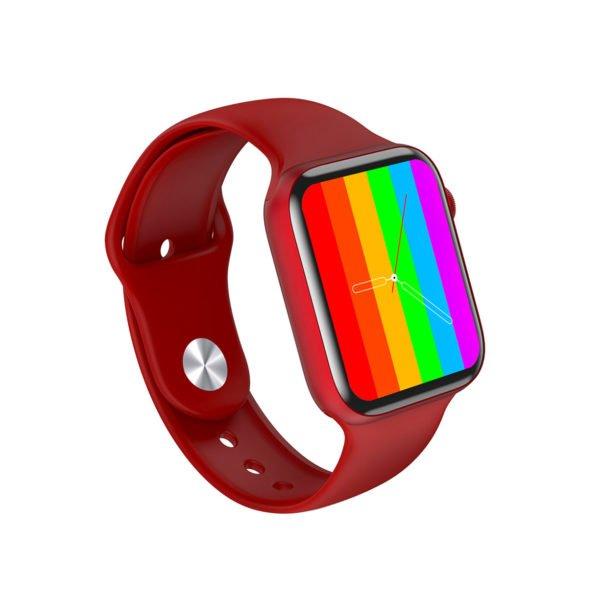красные смарт часы LW15