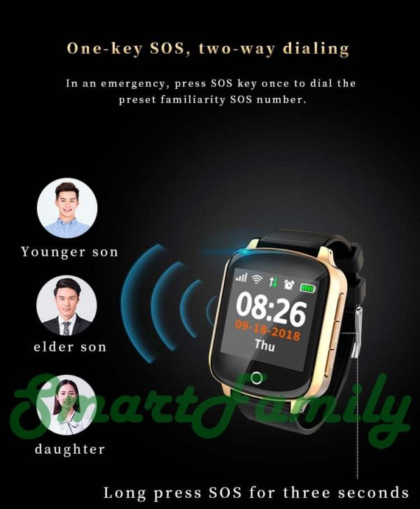 Smart watch D200 для пожилых