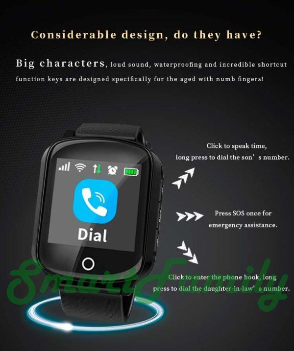 Smart watch D200 кнопки