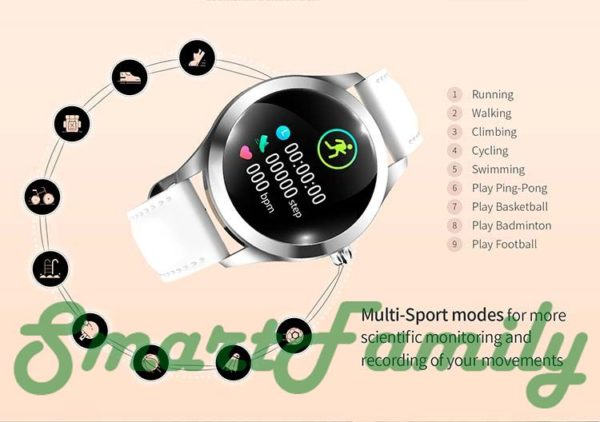 женские умные часы KW10