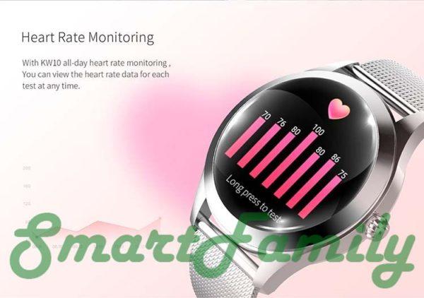 женские умные часы KW10 пульс
