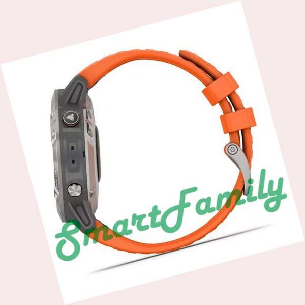 FENIX 6 Sapphire оранжевые сбоку