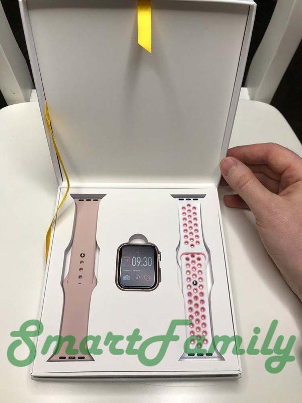 часы IWO 11 розовые комплект