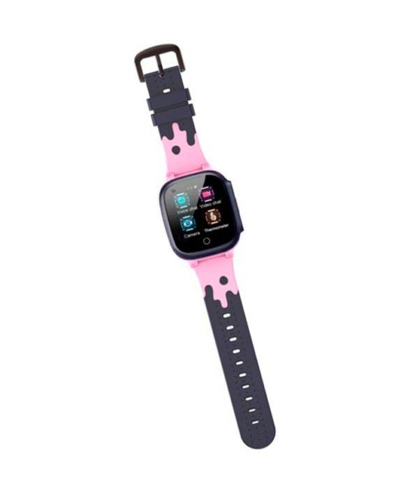 часы T8W с видеозвонком розовые